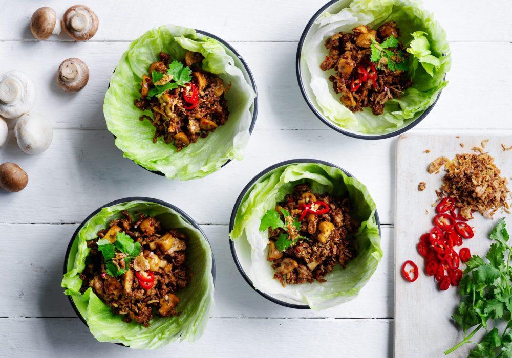 Recipe: Mushroom & Pork San Choy Bao